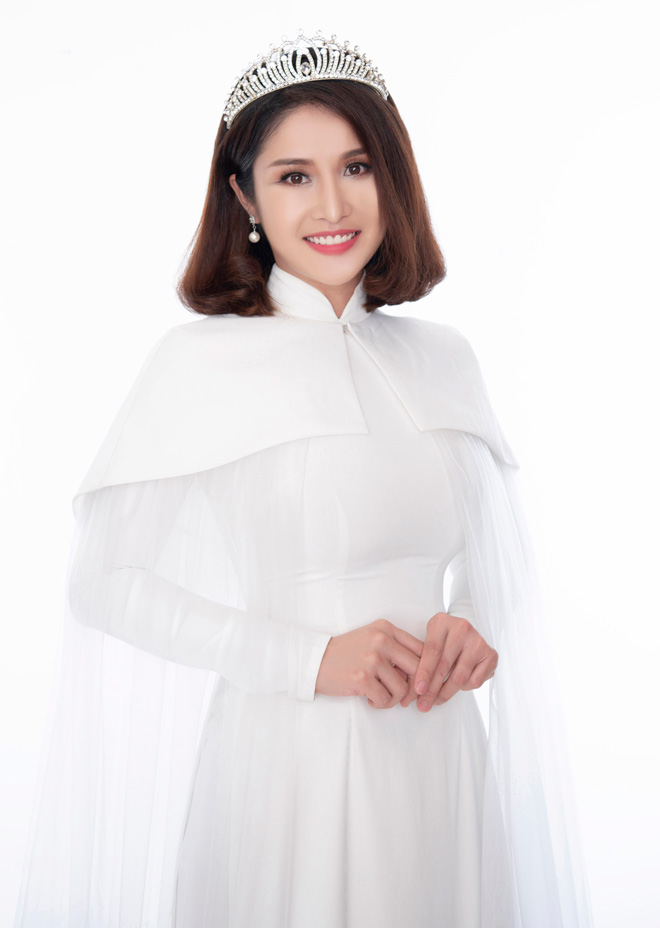 Hoa hậu Áo dài đọ sắc vợ cũ Phan Thanh Bình với váy màu nude - 8