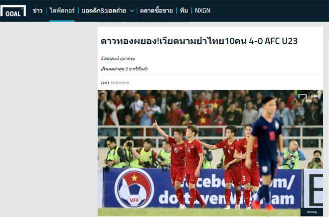 """U23 Việt Nam """"hủy diệt"""" Thái Lan 4-0: Báo châu Á ngả mũ kỳ tích lịch sử - 4"""