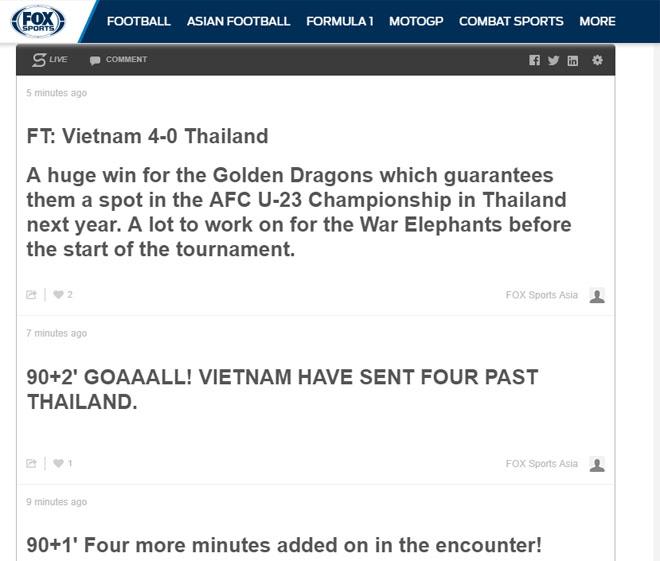 """U23 Việt Nam """"hủy diệt"""" Thái Lan 4-0: Báo châu Á ngả mũ kỳ tích lịch sử - 2"""