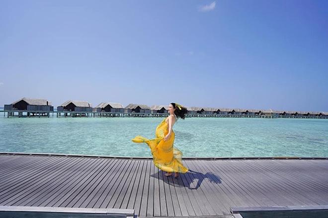Khám phá thiên đường biển Maldives qua bộ ảnh sang chảnh của cựu hoa khôi báo chí - 1