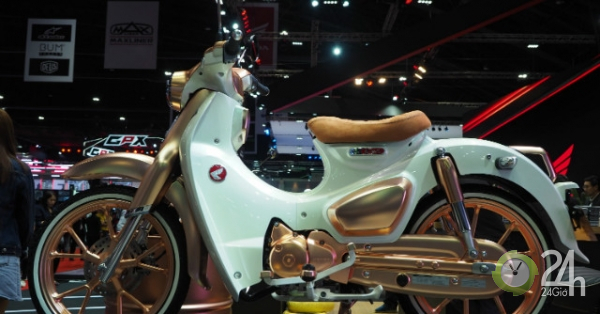 Mãn nhãn ngắm huyền thoại Honda Cub C125 vàng đồng tuyệt đẹp