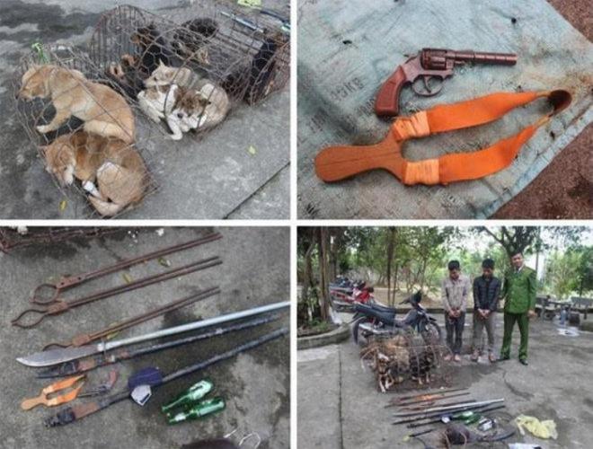 Bị vây bắt, nhóm trộm chó liều lĩnh chém bị thương 2 sĩ quan công an - 1