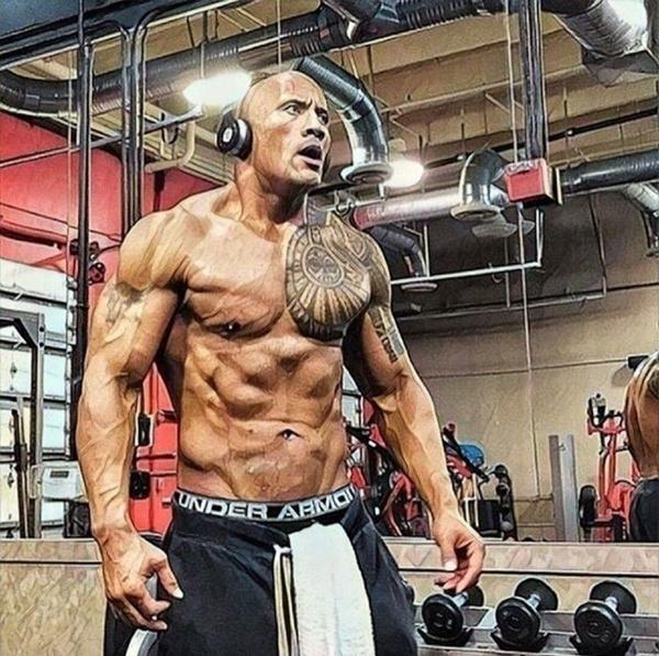 Núi cơ bắp của The Rock xứng đáng là thần tượng của cánh đàn ông - 5