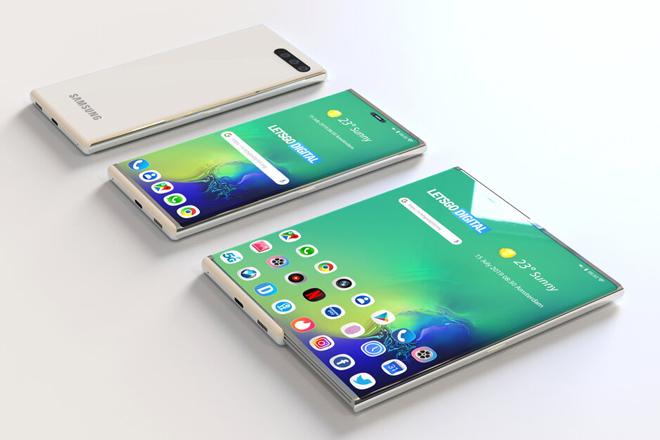 Samsung chuẩn bị gây bất ngờ với smartphone có màn hình trượt - 1