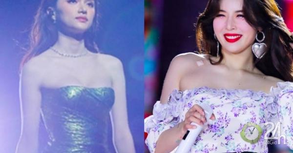Hoa hậu Hương Giang hút mọi chú ý, gợi cảm chẳng kém biểu tượng sexy xứ Hàn - Giải trí