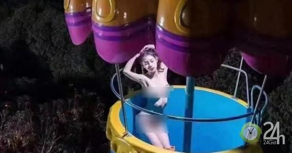 Khỏa thân uốn éo ở công viên, cô gái xinh đẹp bị bắt giữ