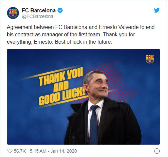 Barca chính thức sa thải Valverde: Thầy mới Messi khiến nhiều người ngỡ ngàng - 2