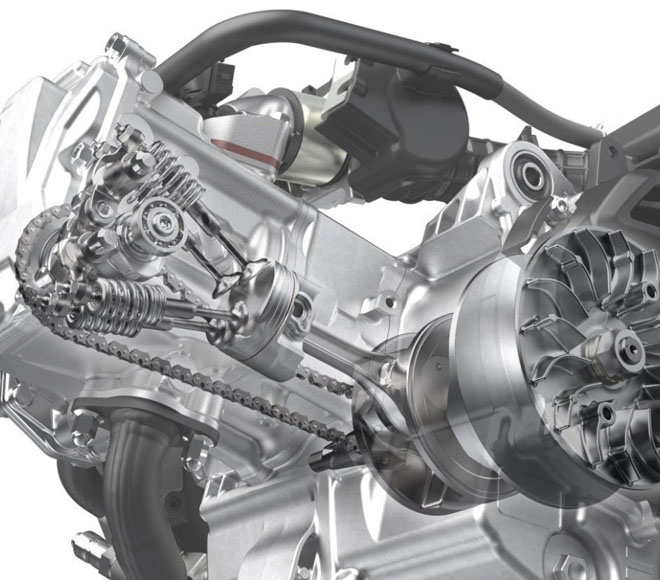 """Khám phá động cơ """"mới toanh"""" trên Honda PCX 157cc sắp trình làng - 3"""