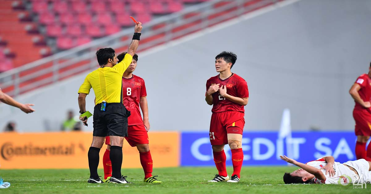 Đình Trọng nhận thẻ đỏ giải U23 châu Á: Có lỡ đại chiến vòng loại World Cup?-Bóng đá 24h