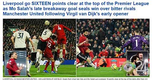 Liverpool được báo Anh khen nhiệt liệt, huyền thoại MU gay gắt chê Martial & James-Bóng đá 24h