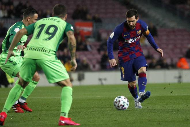 Video highlight trận Barcelona - Leganes: Đáp lời Real, Messi rực sáng - 1