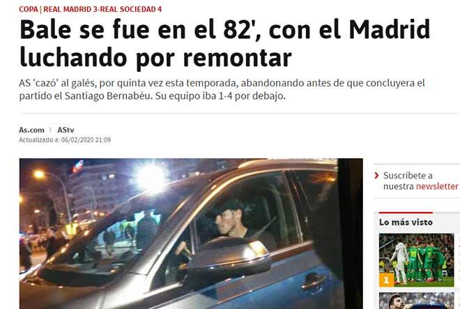 Real thua đau: Báo Tây Ban Nha dậy sóng vì Bale