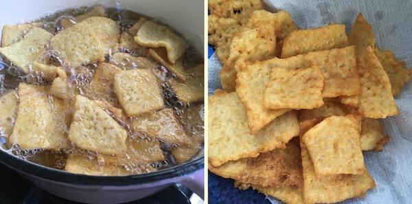 Tận dụng cơm nguội dư, tôi làm món snack giòn rụm càng ăn càng mê - 4