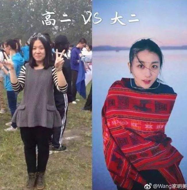 Sinh viên Trung Quốc lột xác khi vào đại học, nhìn trước và sau ai cũng không tin là thật - 9