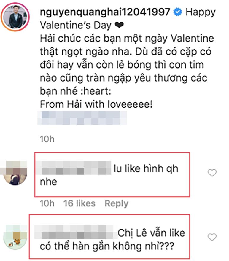 Động thái lạ của Nhật Lê, Quang Hải đúng đêm ngày Valentine - 2