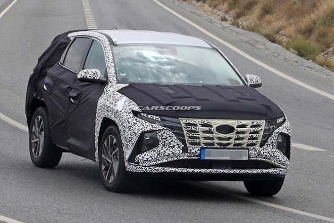 Hyundai Santa Fe 2021 lộ diện ngoại hình trên đường chạy thử - 4