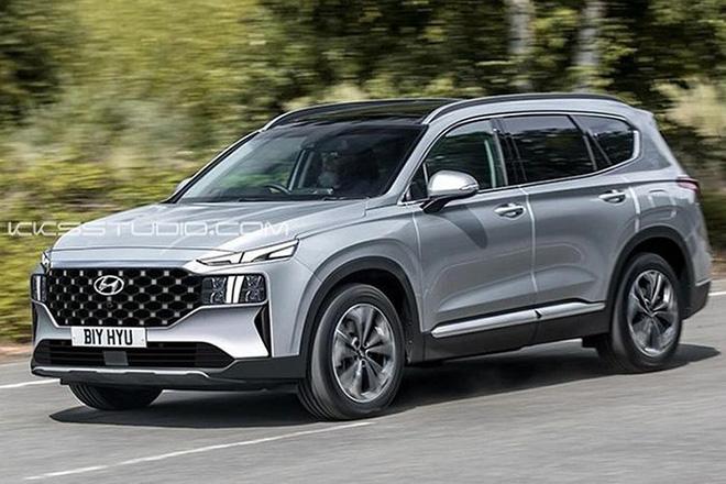 Hyundai Santa Fe 2021 lộ diện ngoại hình trên đường chạy thử - 6