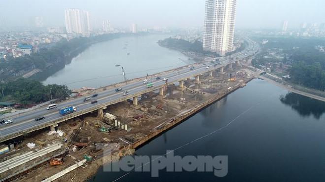 Cận cảnh công trình cầu vượt hồ Linh Đàm xóa điểm ùn tắc lớn nhất Hà Nội - 2
