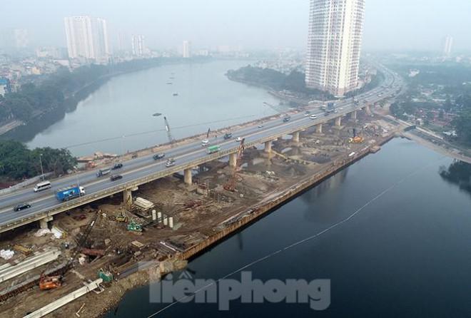Cận cảnh công trình cầu vượt hồ Linh Đàm xóa điểm ùn tắc lớn nhất Hà Nội - 1