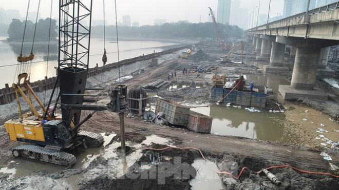 Cận cảnh công trình cầu vượt hồ Linh Đàm xóa điểm ùn tắc lớn nhất Hà Nội - 4
