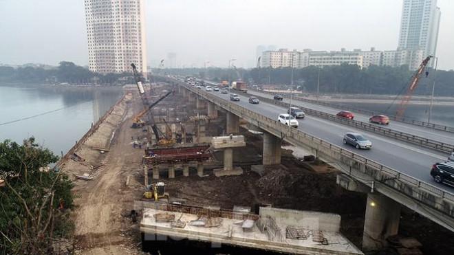 Cận cảnh công trình cầu vượt hồ Linh Đàm xóa điểm ùn tắc lớn nhất Hà Nội - 3