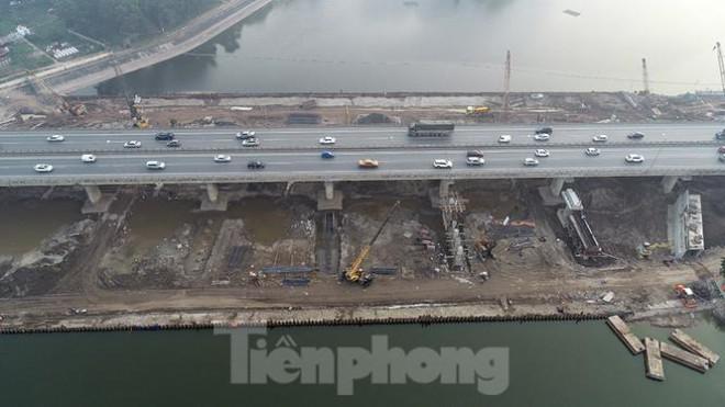 Cận cảnh công trình cầu vượt hồ Linh Đàm xóa điểm ùn tắc lớn nhất Hà Nội - 12