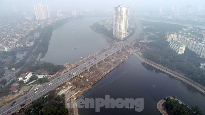 Cận cảnh công trình cầu vượt hồ Linh Đàm xóa điểm ùn tắc lớn nhất Hà Nội - 11