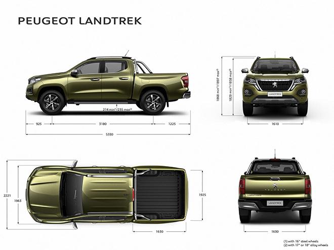 Peugeot Landtrek tân binh trong phân khúc xe bán tải - 3