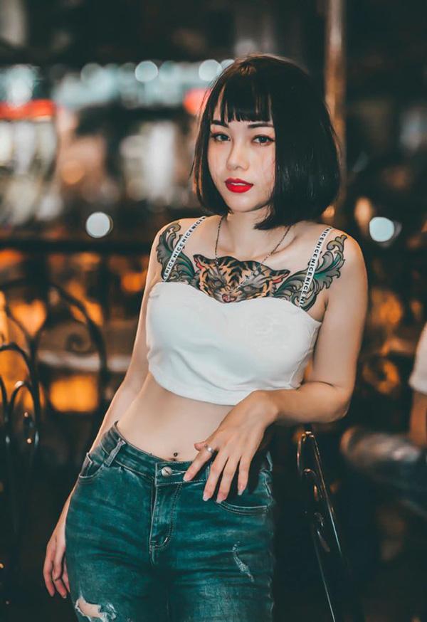 Người đẹp Hà Nội có hình xăm hổ lớn quen với việc ra đường là bị chỉ trỏ - 5