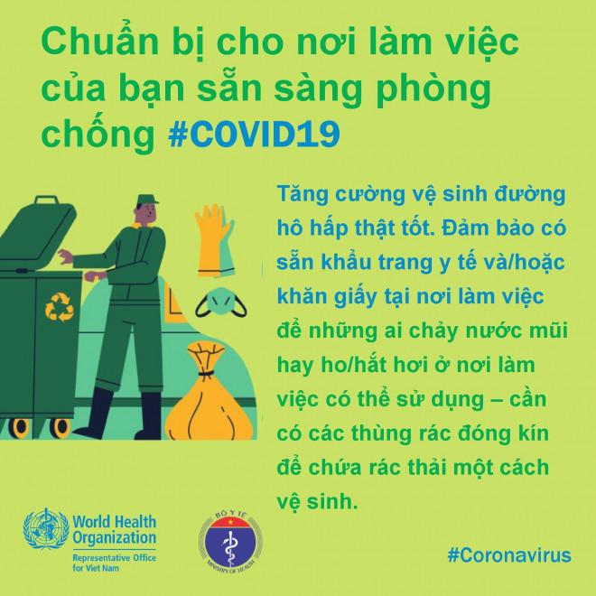 8 điều cần làm để bảo đảm phòng chống Covid-19 ở nơi làm việc - 3