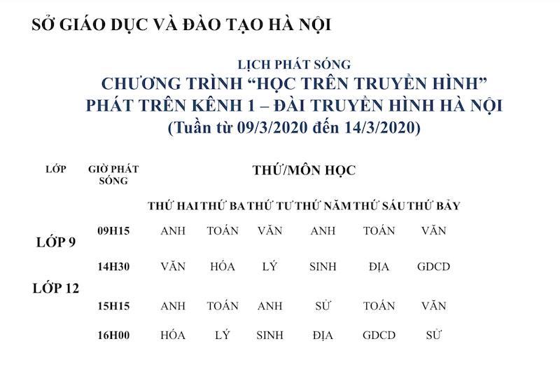 Từ hôm nay, Hà Nội dạy học trên truyền hình cho học sinh lớp 9 và lớp 12 - 1