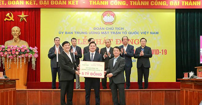 Tập đoàn Hưng Thịnh ủng hộ 5 tỷ đồng hỗ trợ công tác phòng chống dịch covid-19 - 1