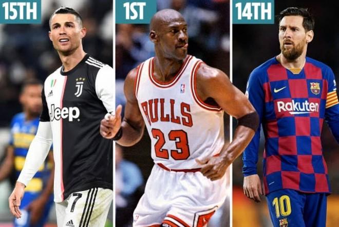 """VĐV vĩ đại nhất: """"Vua bóng rổ"""" cho Messi - Ronaldo """"hít khói"""" - 1"""