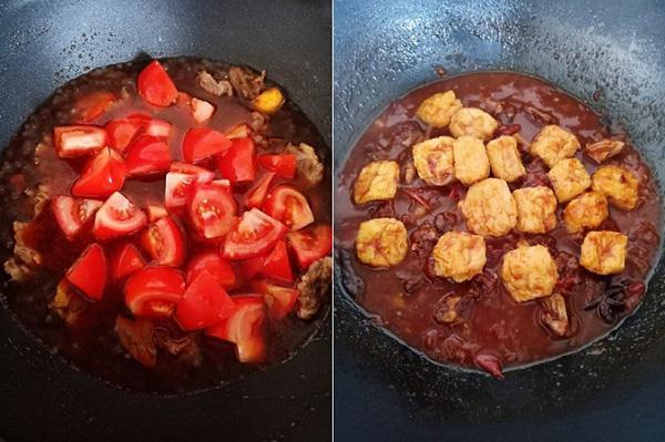 Bữa tối hao cơm với món bò om cà chua mềm ngon - 3