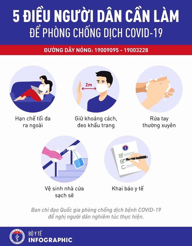 5 điều người dân cần làm lúc này để phòng dịch Covid-19 - 1