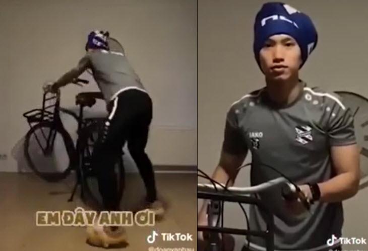 """Clip: Văn Hậu bắt trend """"Hải quay xe"""" khiến fan thích thú - 1"""