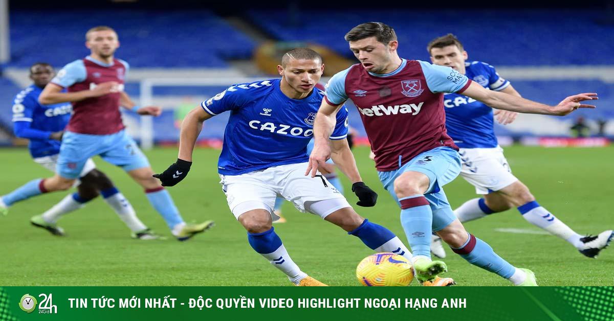 Video Everton - West Ham: Giằng co nảy lửa, đòn đau phút 86