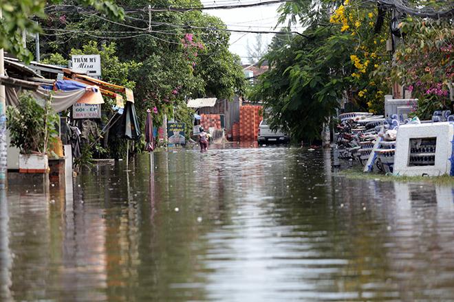 """Đường ở TP Thủ Đức ngập cả ngày, dân """"bơi"""" trong nước bẩn dù trời không mưa - hình ảnh 15"""