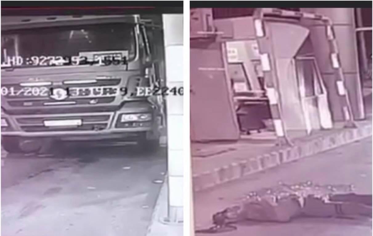 Tai nạn hy hữu: Ô tô tải không người lái cán tử vong tài xế đang kiểm tra dưới gầm xe - hình ảnh 1