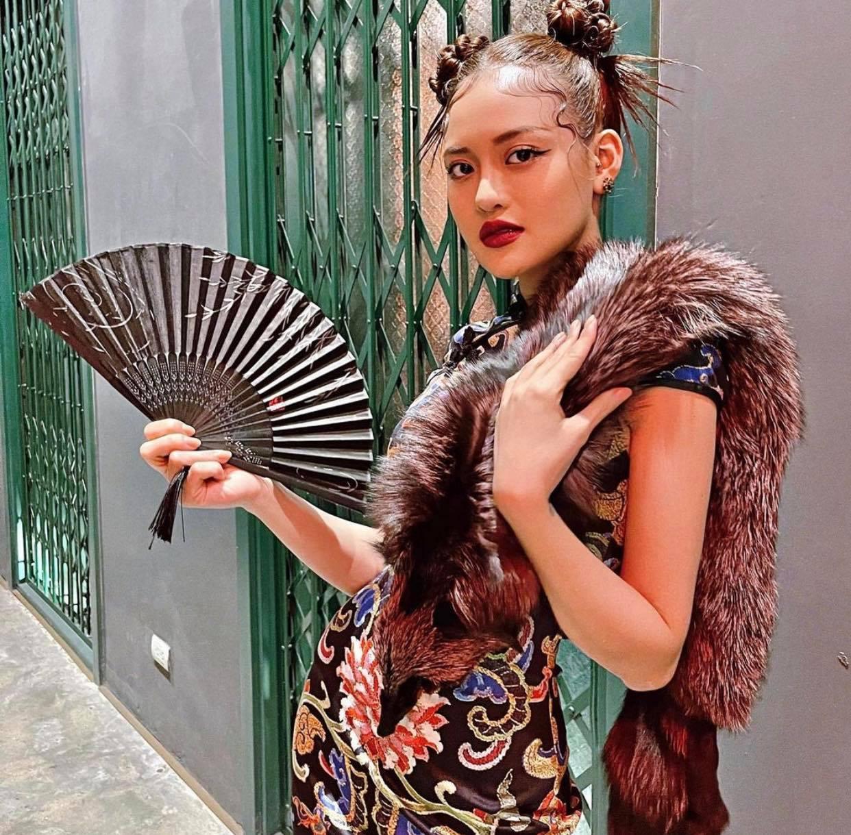 """Mặc lông thú nguyên con, """"thả rông"""" choàng khăn lông… khiến người đẹp Việt bị la ó - hình ảnh 4"""