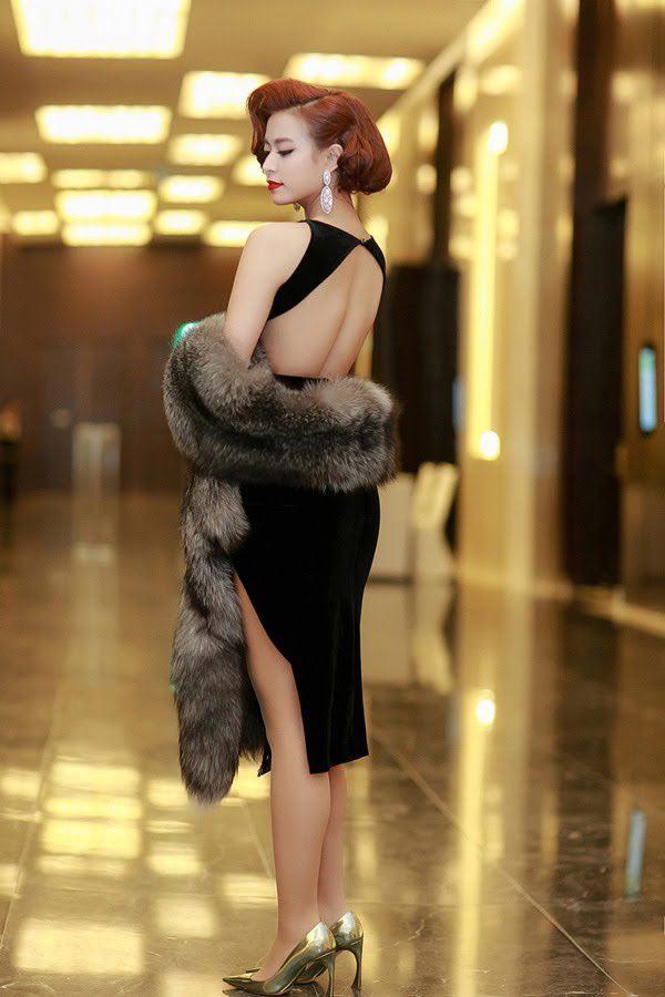 """Mặc lông thú nguyên con, """"thả rông"""" choàng khăn lông… khiến người đẹp Việt bị la ó - hình ảnh 9"""