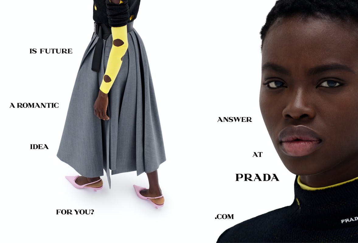 Chiến dịch thời trang Xuân Hè 2021 của Prada: Khi con người trò chuyện cùng máy móc - hình ảnh 1