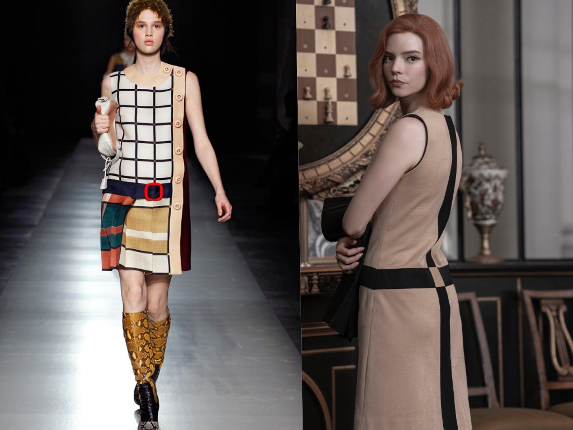 """Tủ đồ thấm đẫm tinh thần Prada của """"nữ vương cờ vua – Queen Gambit"""" - hình ảnh 5"""