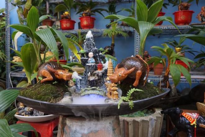 Độc đáo bonsai dừa tạo hình con trâu đón Tết Tân Sửu 2021 - 2