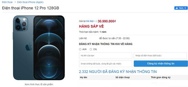 """iPhone 12 Pro tiếp tục """"cháy hàng"""" tại Việt Nam - 1"""