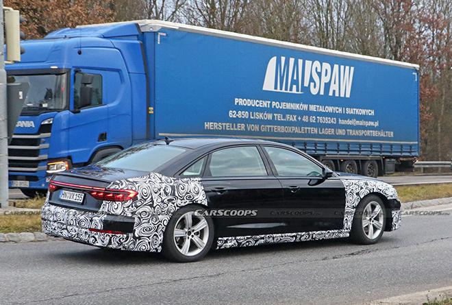 Audi A8 phiên bản mới lộ diện trên đường thử - 4