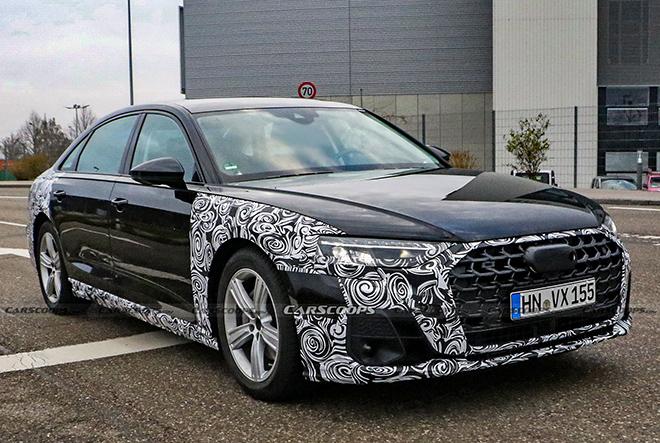 Audi A8 phiên bản mới lộ diện trên đường thử - 2