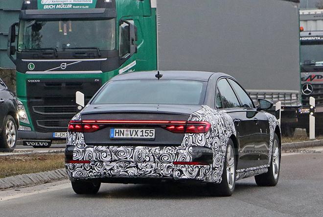 Audi A8 phiên bản mới lộ diện trên đường thử - 3