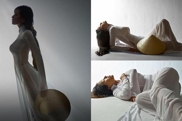 Người đẹp Việt mặc áo dài mỏng tang như tờ giấy đến chốn trang nghiêm gây bức xúc - 10