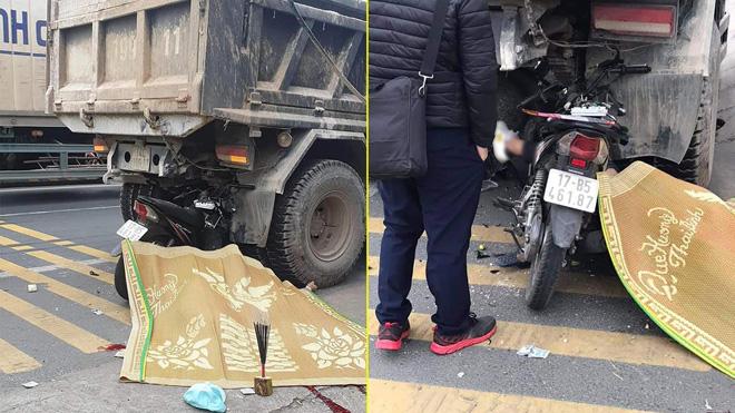 Xe máy kẹp 3 đâm vào đuôi xe tải, 2 người tử vong - hình ảnh 1